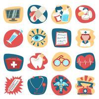 Sjukhus ikoner uppsättning