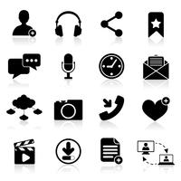 Soziale Netzwerk-Icons vektor