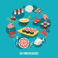 Delikatessen mit Meeresfrüchten