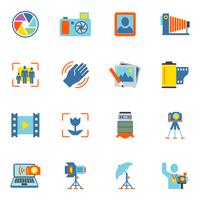 Fotografiska ikoner Flat