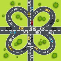 Highway trafik illustration