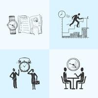 Zeitmanagement-Kompositionsskizze vektor