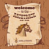 Racetrack retro affisch