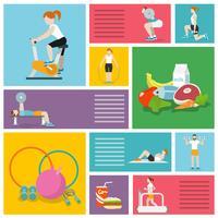 Gym övar människor vektor