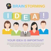 Ideen-Brainstorming-Konzept vektor