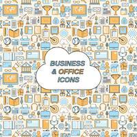 Business sömlöst mönster vektor