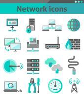 Nätverksikoner inställda