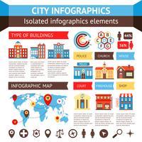 stad infographics set vektor