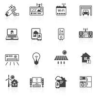 Smart Home Icons schwarz