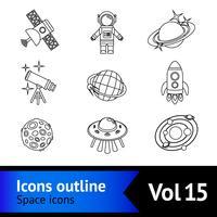 ikoner för utrymmesymboler