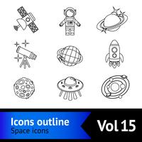 Space Icons Gliederung Set