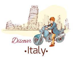 Entdecken Sie Italien Poster vektor