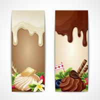 Chokladbanners vertikala vektor