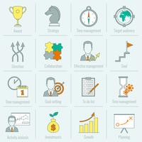 Affärsstrategi planering ikon platt linje