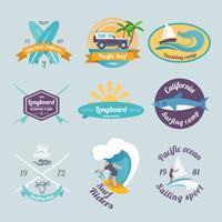 Surfa etiketter uppsättning