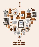 Liebe Kaffee-Konzept vektor