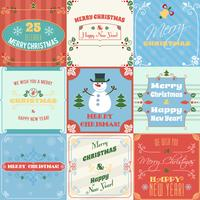 Weihnachtskarten gesetzt