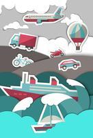Transportpapier Hintergrund