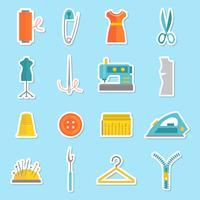 Klistermärken för symaskiner vektor