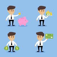 Affärsman ekonomiska begrepp