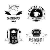 Restaurant Menü Embleme gesetzt vektor