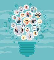 Soziales Netzwerk-Konzept vektor