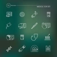 Medicinska tester ikoner skiss