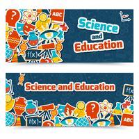 Utbildningsvetenskapliga banderoller vektor