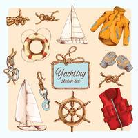 Yachting skiss set