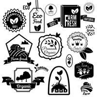 Öko-Etiketten schwarz vektor