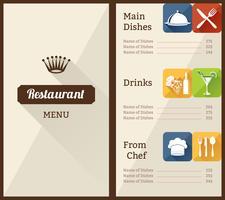 Restaurant Menüvorlage vektor