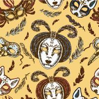 Nahtloses Muster der Karnevalsmasken
