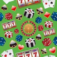 Casino sömlöst mönster