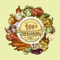 Gemüse skizzieren Hintergrund vektor