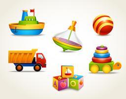Leksaker ikoner uppsättning