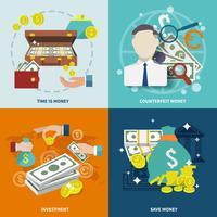 Pengar ikon platt