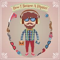 Hipster pojkeaffisch