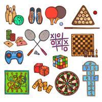 Spel skiss ikoner vektor