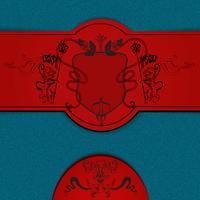 Heraldischer farbiger Hintergrund vektor