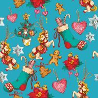 Jul sömlöst mönster vektor