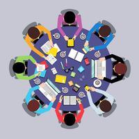 Draufsicht der Teamwork-Leute