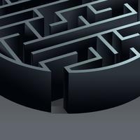 Maze 3d cirkel vektor