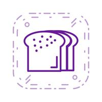 Vektor bröd ikon