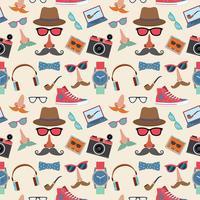 Hipster sömlöst mönster