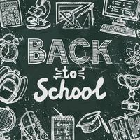 Tillbaka till skolans svarta tavla vektor