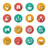 Vermarkter flache Icons Set vektor