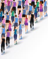 Grupp springande människor