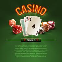 Pocker casino bakgrund