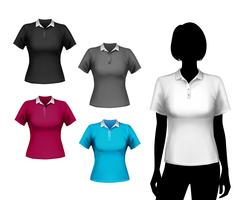 T-Shirts weiblicher Satz vektor