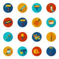 Målning ikoner färgade